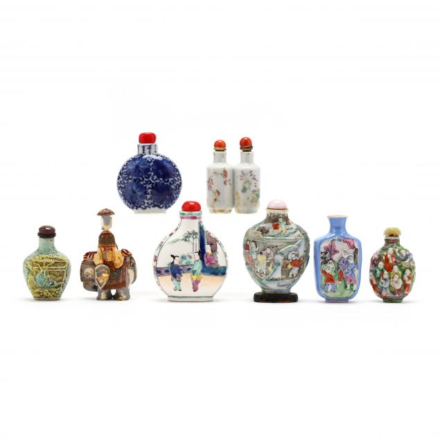 a-group-of-eight-chinese-snuff-bottles