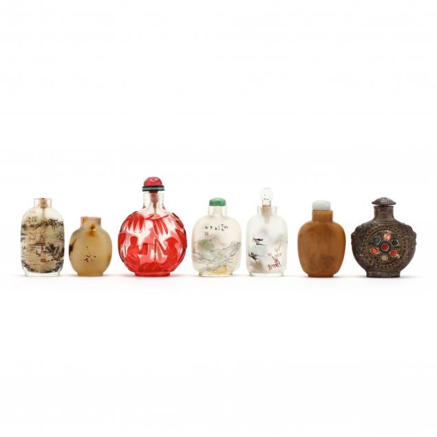 a-group-of-seven-chinese-snuff-bottles