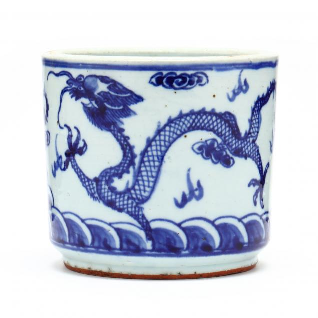 a-chinese-porcelain-blue-and-white-brush-pot