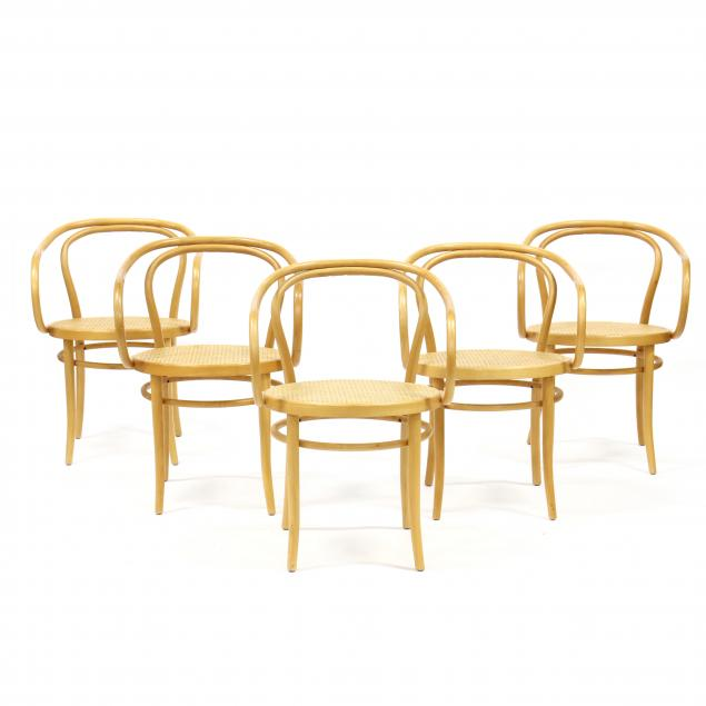 set-of-five-thonet-209-armchairs