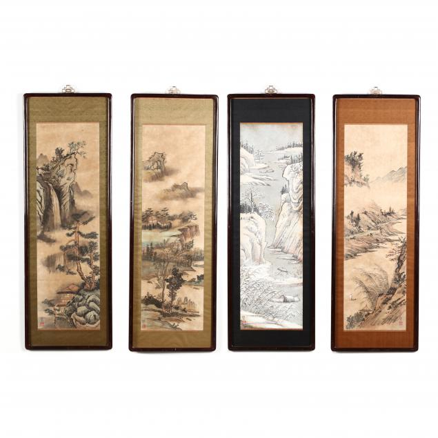 a-set-of-chinese-landscape-paintings-of-the-four-seasons