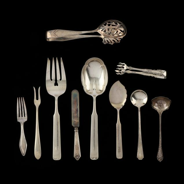group-of-sterling-silver-flatware