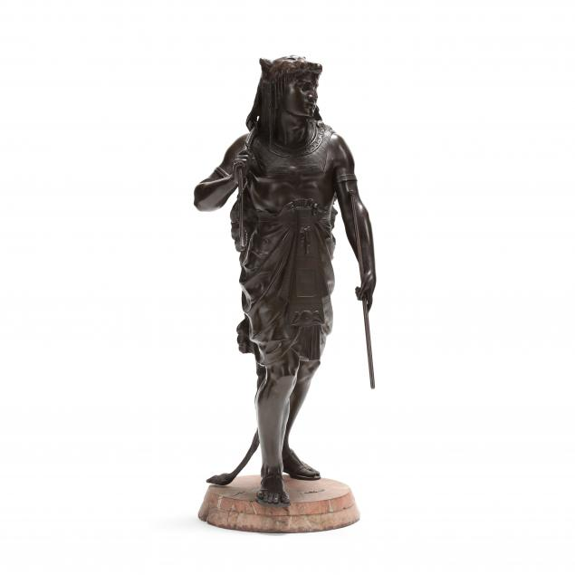 att-emile-louis-picault-french-1833-1915-a-large-bronze-of-an-egyptian-king