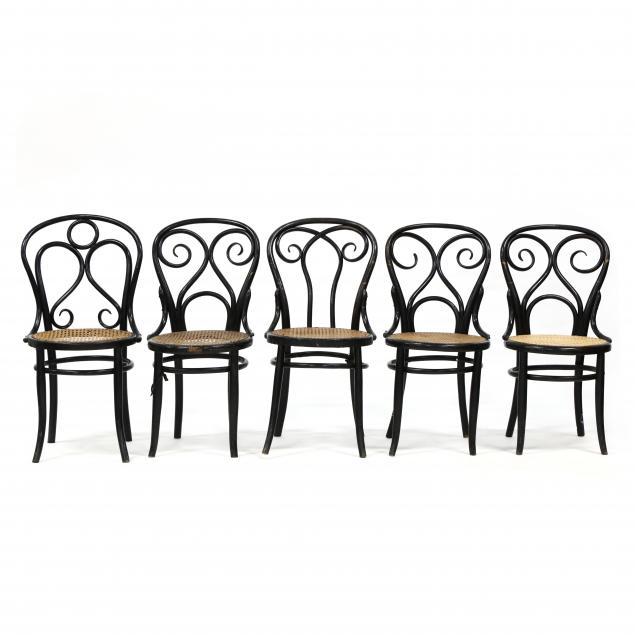 att-thonet-set-of-five-antique-bentwood-side-chairs