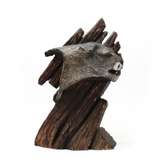 folk-art-carved-cougar-sculpture
