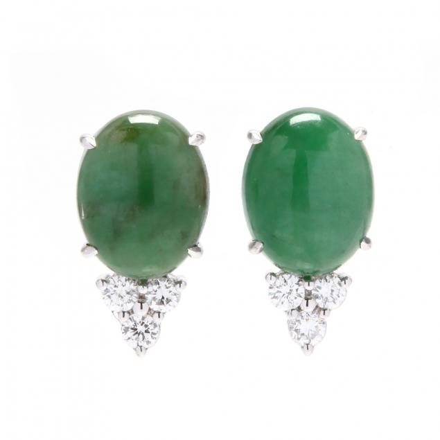 18kt-white-gold-jadeite-and-diamond-earrings-ise