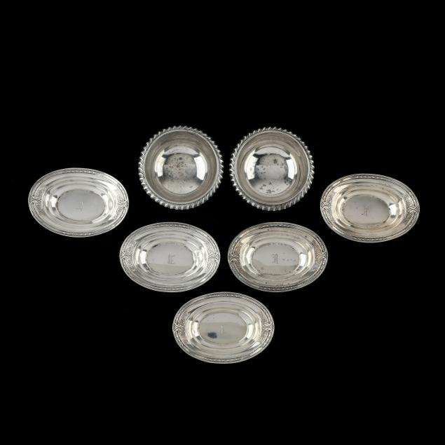 seven-sterling-silver-salts-nut-dishes