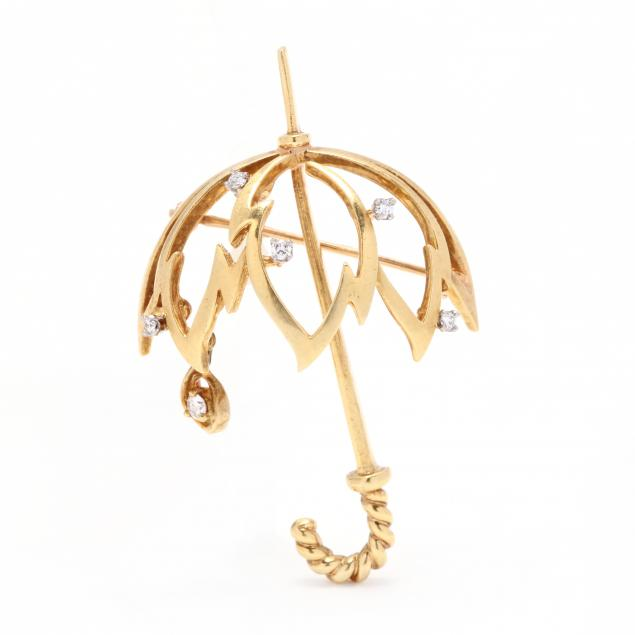 18kt-gold-and-diamond-umbrella-motif-brooch-kurt-wayne