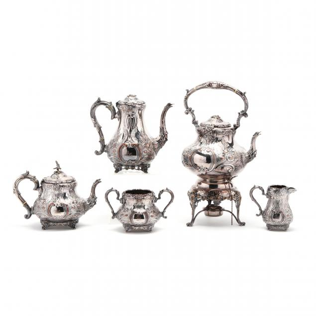 five-piece-english-silverplate-tea-service