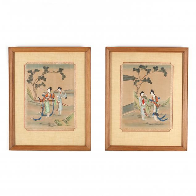 a-pair-of-chinese-paintings-of-noble-ladies