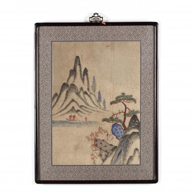 a-korean-folk-painting-of-mountain-landscape