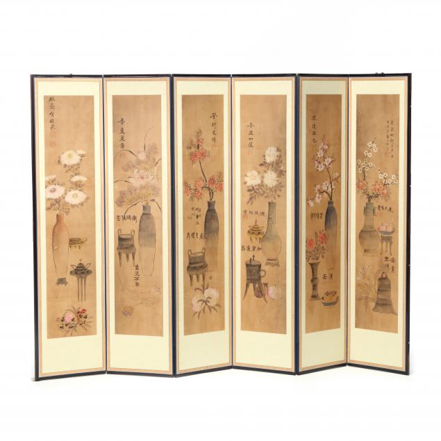 a-korean-six-panel-folding-i-gimyeong-jeoljido-i-screen