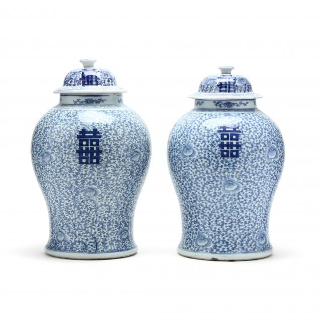 a-matched-pair-of-chinese-blue-and-white-double-happiness-jars-with-covers