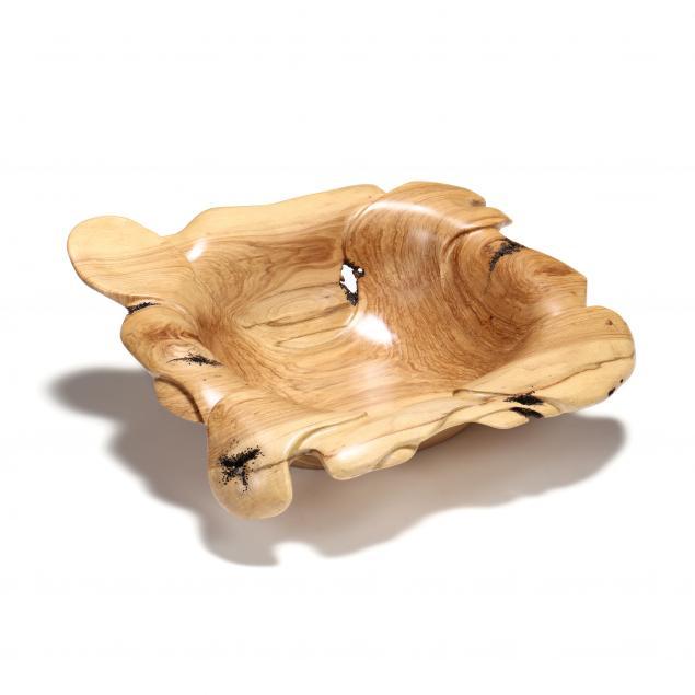 large-artisan-carved-wood-bowl