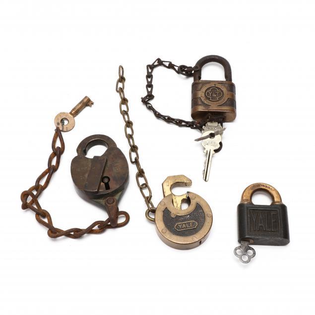 four-vintage-padlocks