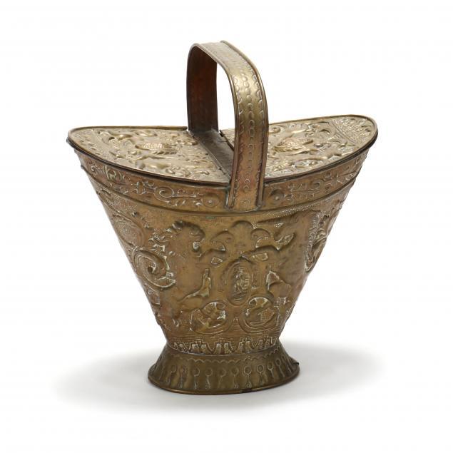 antique-repousse-brass-coal-scuttle