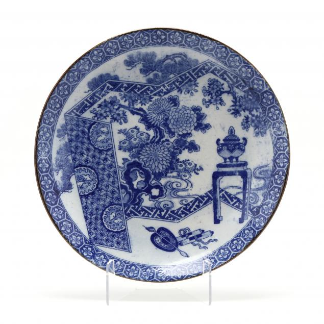 a-large-japanese-blue-and-white-transferware-charger