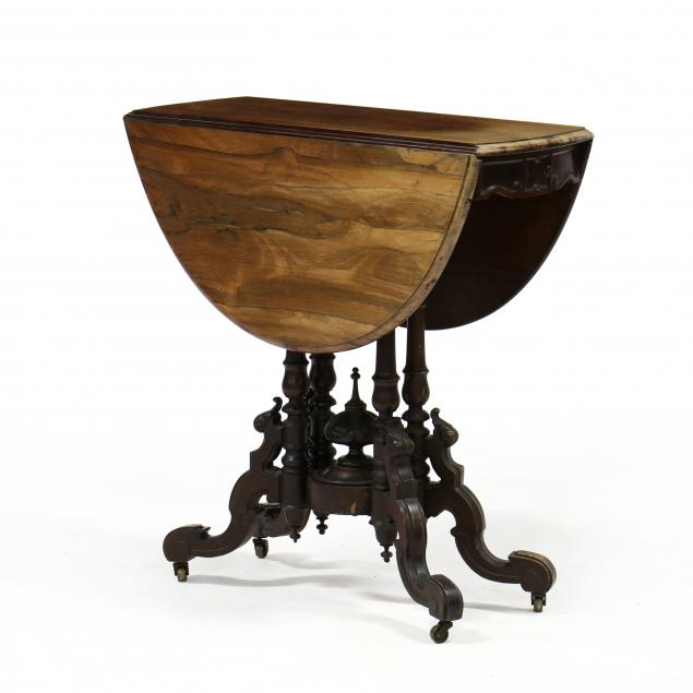 victorian-rosewood-drop-leaf-table