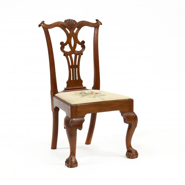 bench-made-chippendale-style-mahogany-side-chair