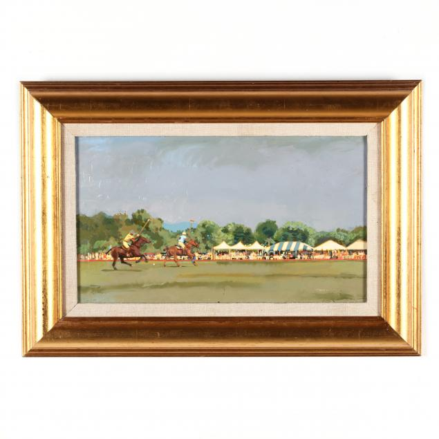 contemporary-american-school-painting-of-a-polo-match
