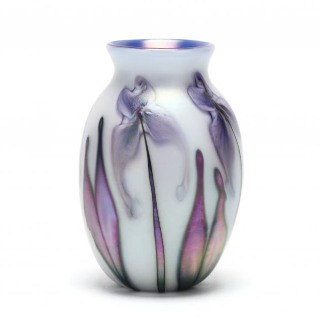 charles-lotton-multi-flora-art-glass-vase