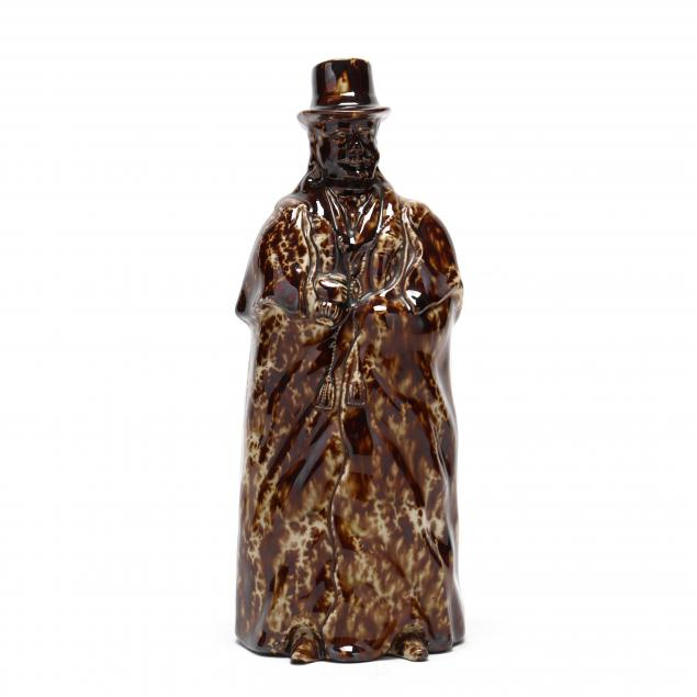 bennington-flint-enamel-bottle-of-a-coachman