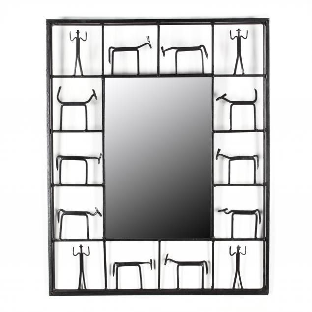 frederick-weinberg-vintage-figural-iron-mirror