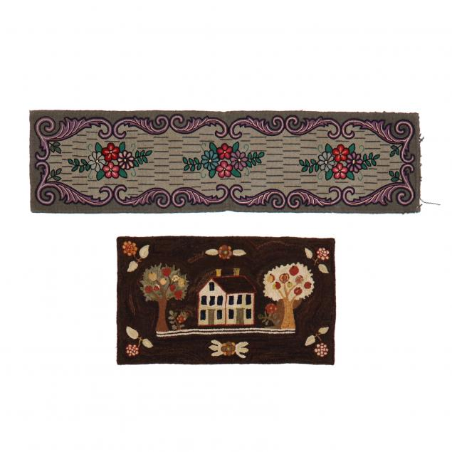 two-vintage-hooked-rugs