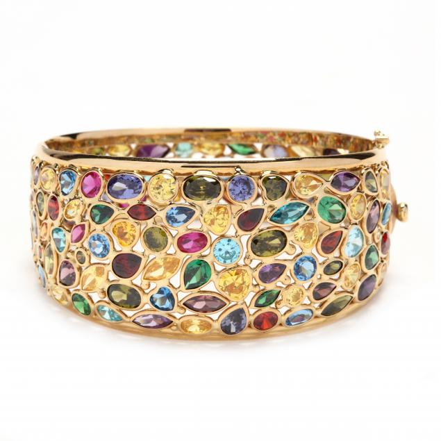 18kt-gold-and-gem-set-bracelet-chiampesan