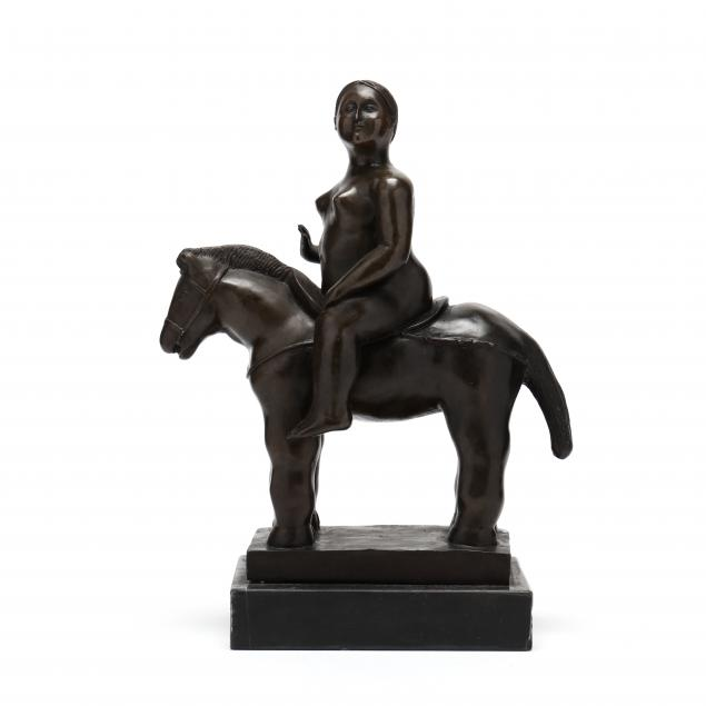 after-frenando-botero-columbian-b-1932-bronze-woman-on-horseback