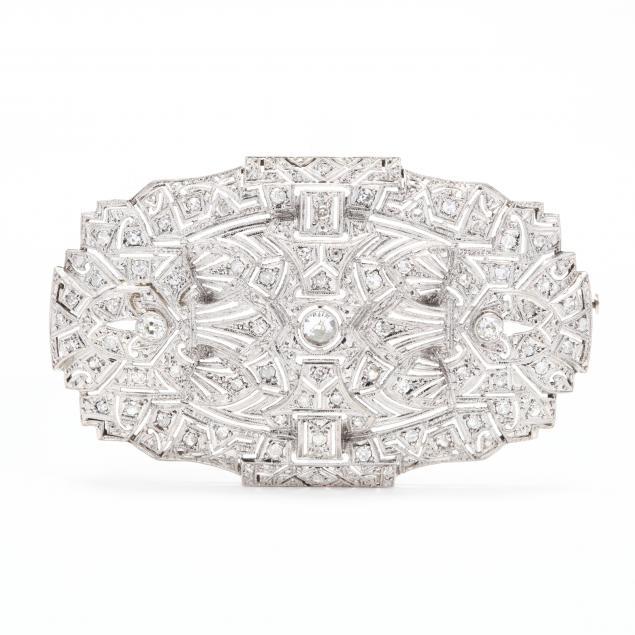 platinum-and-diamond-brooch
