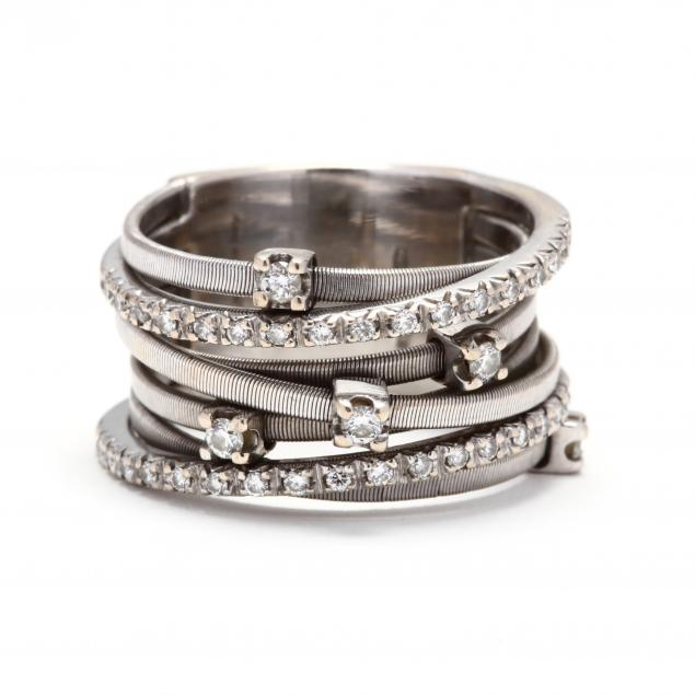 18kt-white-gold-and-diamond-seven-strand-ring-marco-bicego