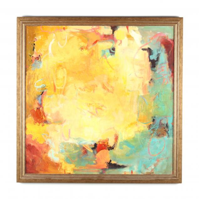 diane-patton-va-abstract-expressionist-painting-in-yellow-and-cyan