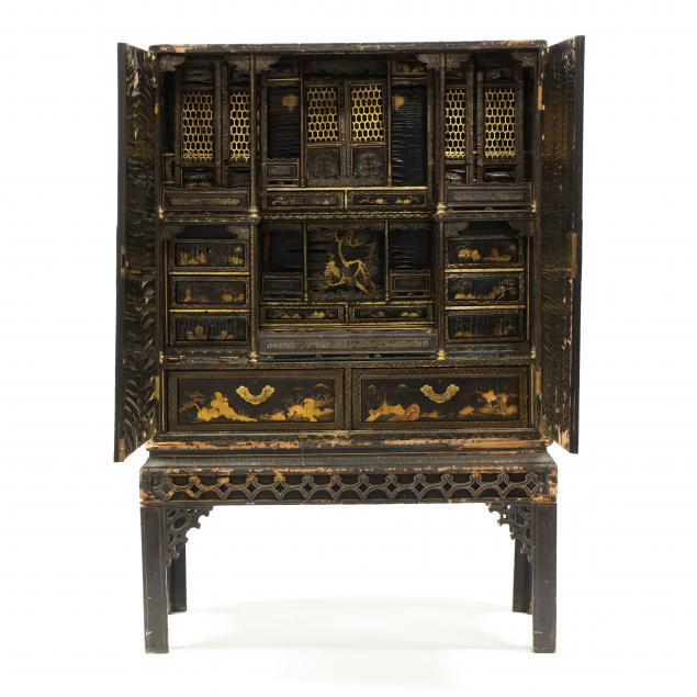 chinese-lacquered-cabinet-on-stand