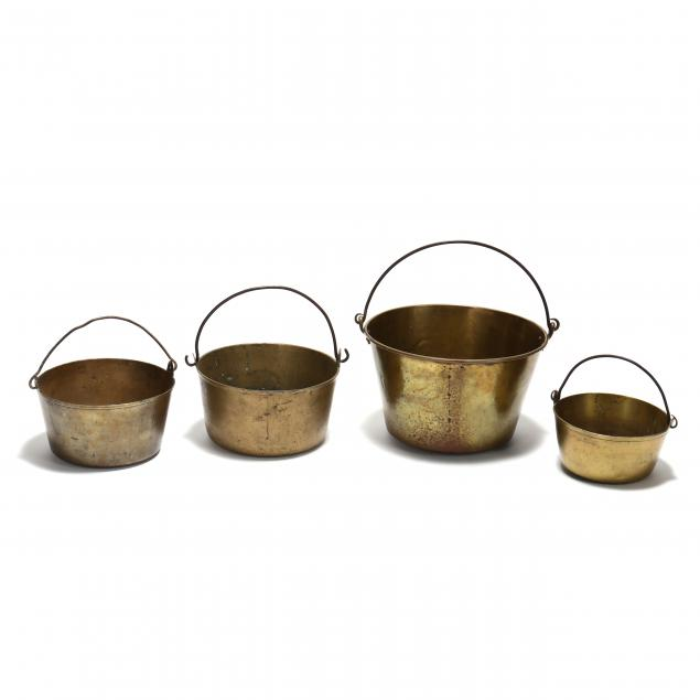 four-antique-brass-buckets