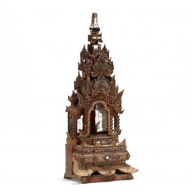 a-burmese-carved-wooden-buddhist-shrine