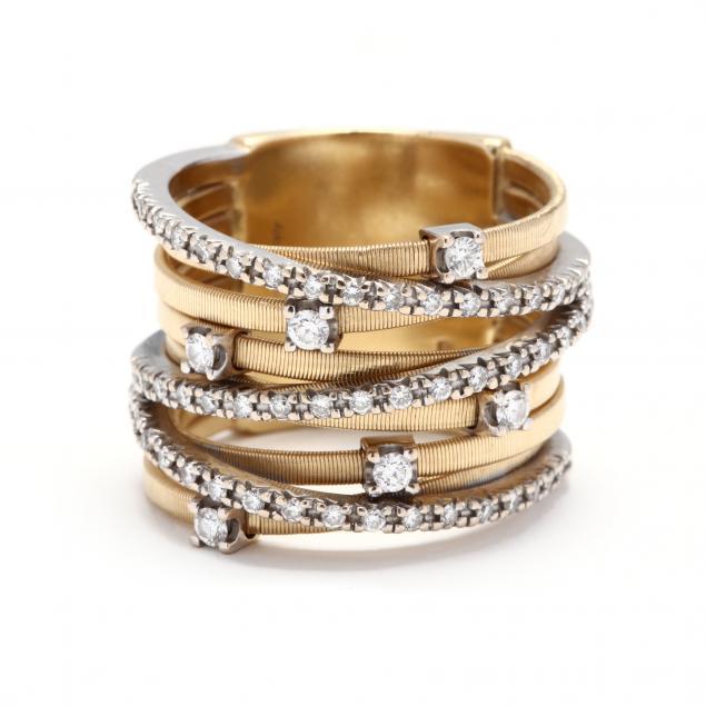 18kt-bi-color-gold-and-diamond-nine-strand-ring-marco-bicego