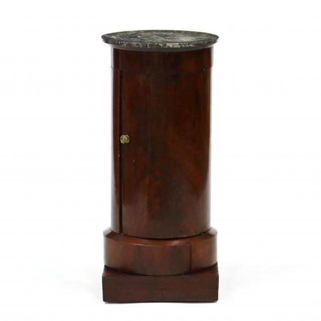 antique-english-marble-top-pedestal-cabinet