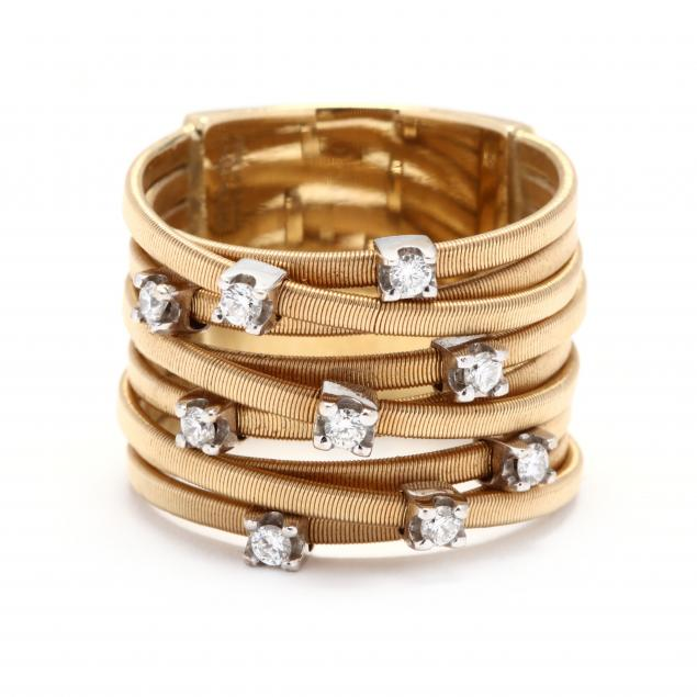 18kt-gold-and-diamond-nine-strand-ring-marco-bicego