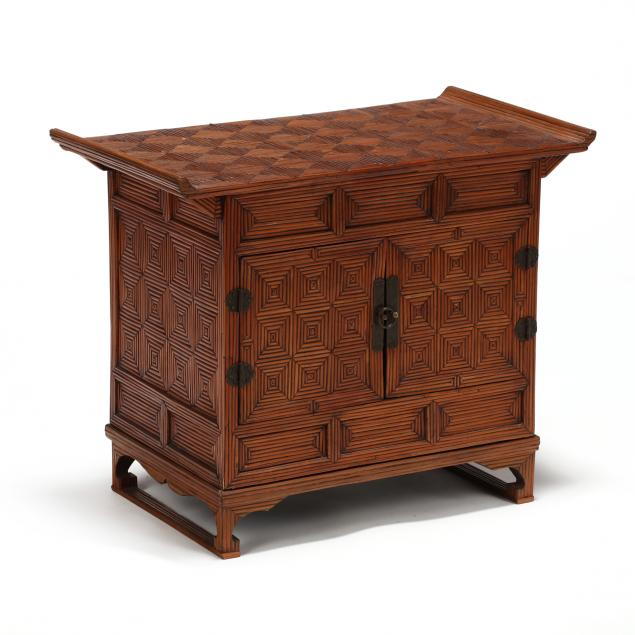 a-korean-two-door-parquetry-inlaid-cabinet