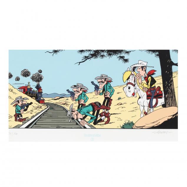 framed-lucky-luke-cartoon