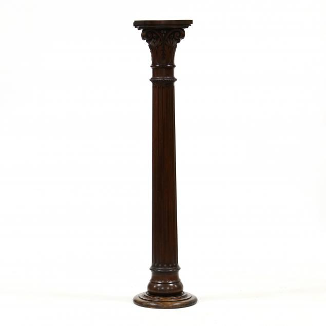antique-carved-mahogany-decorative-column