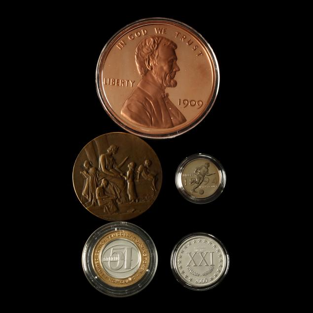 five-varied-items-of-numismatic-interest