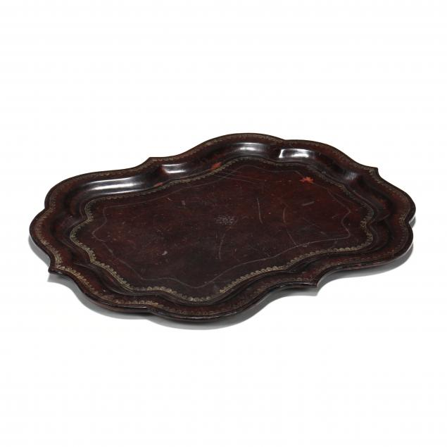 embossed-leather-serving-tray