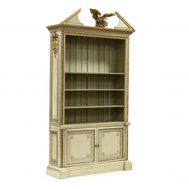 italian-neoclassical-carved-and-painted-bookshelf