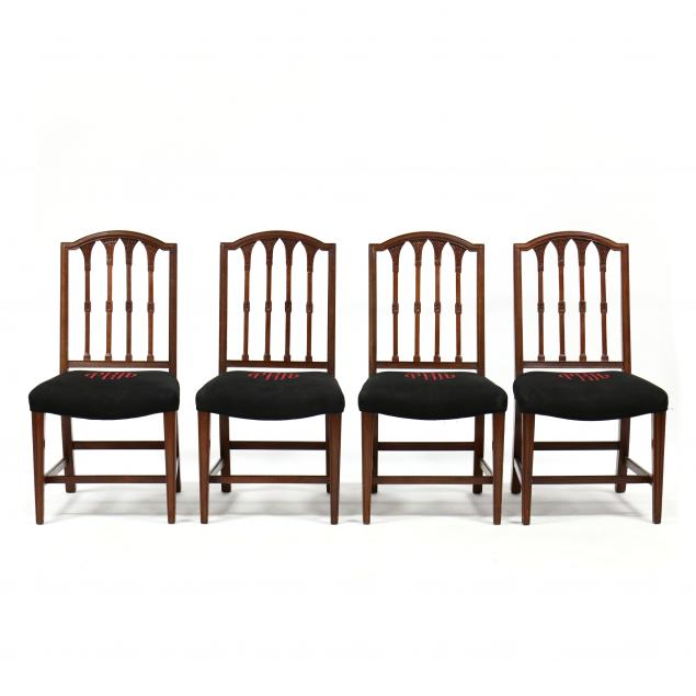 baker-set-of-four-hepplewhite-style-carved-mahogany-side-chairs