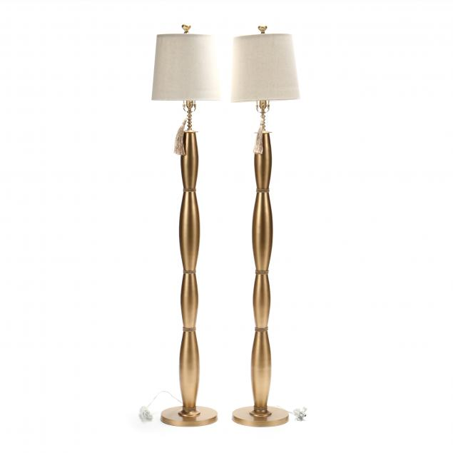 pair-of-contemporary-gilt-metal-floor-lamps