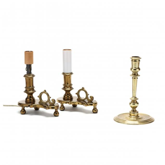 pair-of-brass-chamber-sticks-and-cw-candlestick