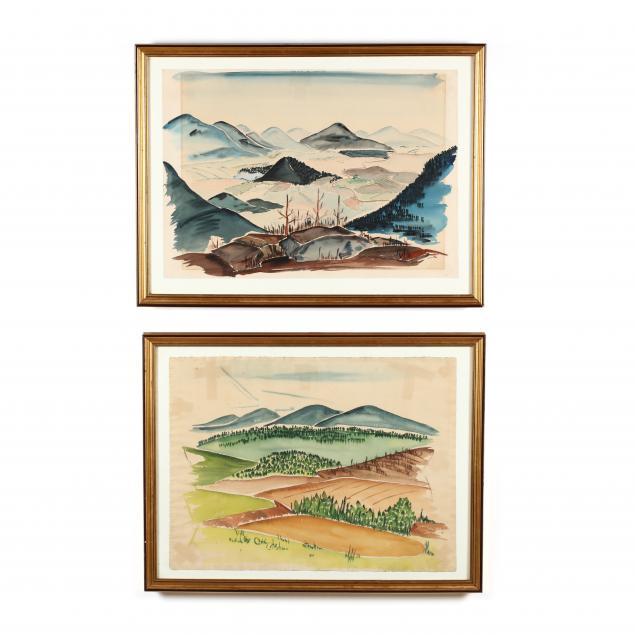 a-pair-of-vintage-landscape-watercolors