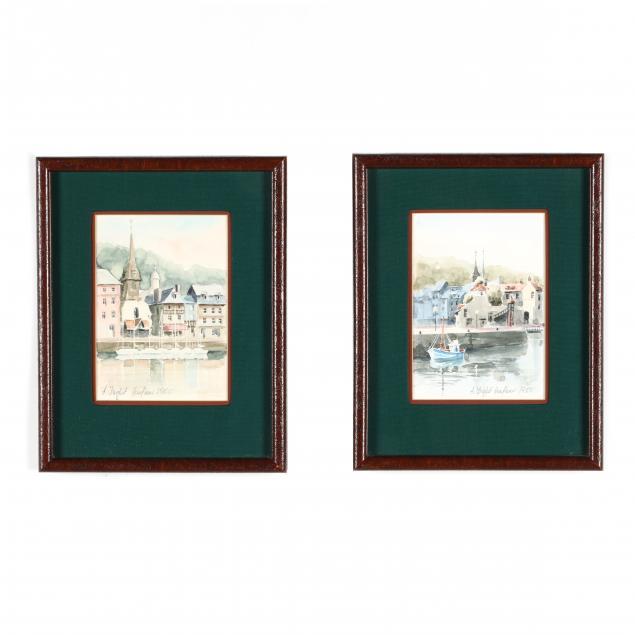 two-watercolors-of-honfleur-france